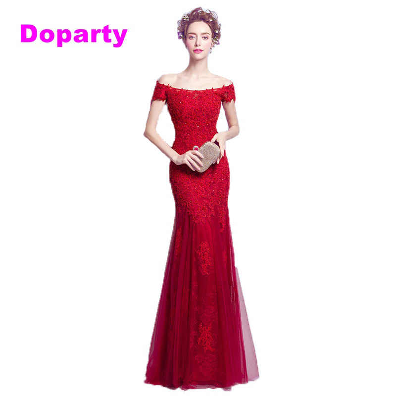 Doaprty Elegant special occasion lace women long mermaid engagement mother  daughter evening prom dresses 2018 for e4191570d622