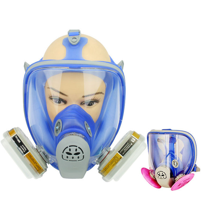 Nueva marca de fábrica 6800 De Silicona Máscara de Gas Respirador Máscara Completa 7 UNIDS Traje Pintura Rociar