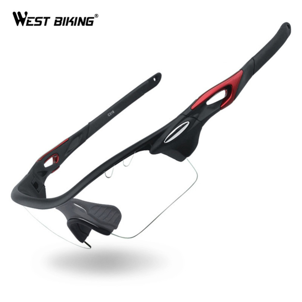 WEST BIKING Photochromic Polarized Cycling Glasses Discoloration Riding Fishing Goggles Bike Sunglasses UV400 Bicycle Eyewear