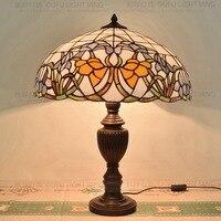 50 см Мандала Цветок простое стекло Тиффани гостиная ресторана бара клуба декоративные настольные лампы