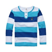 High Quality Boys T Shirts Long Sleeve Children Sweaters Stripe Pattern Baby Boys Girls Unisex Tops
