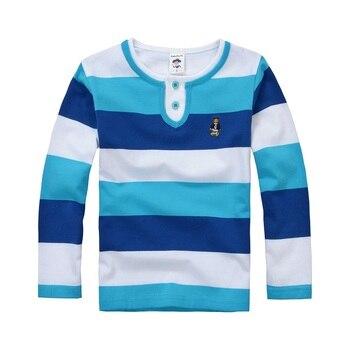 באיכות גבוהה בני T חולצות ארוך שרוול ילדי סוודרים פס דפוס תינוק בני בנות יוניסקס חולצות חדש לגמרי אופנה Tees