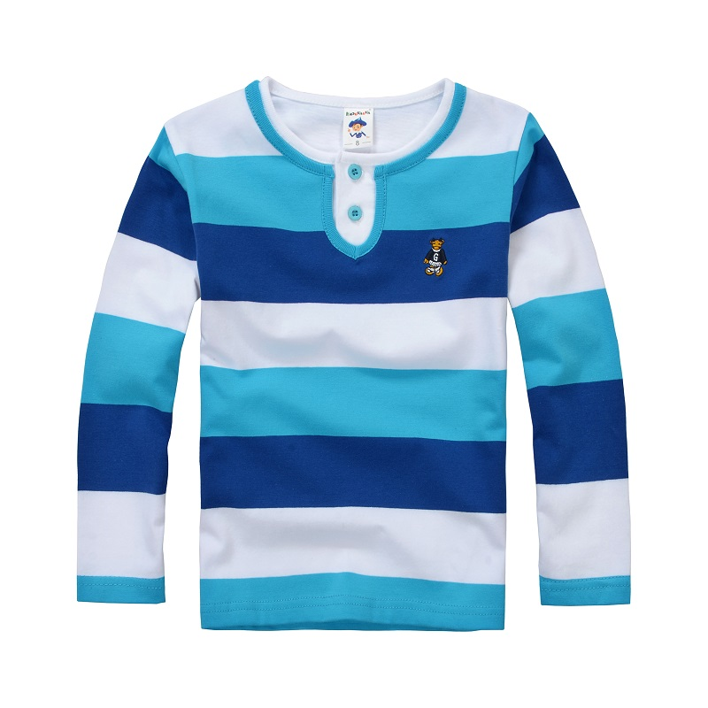 High Quality Boys T shirts Long Sleeve Children Sweaters Stripe Pattern Baby Boys Girls Unisex Tops Brand New Fashion Tees фуфайка футболка д мальчиков gdl арт ss16 cjs bts 098 оранжевый р 98 104 1122720