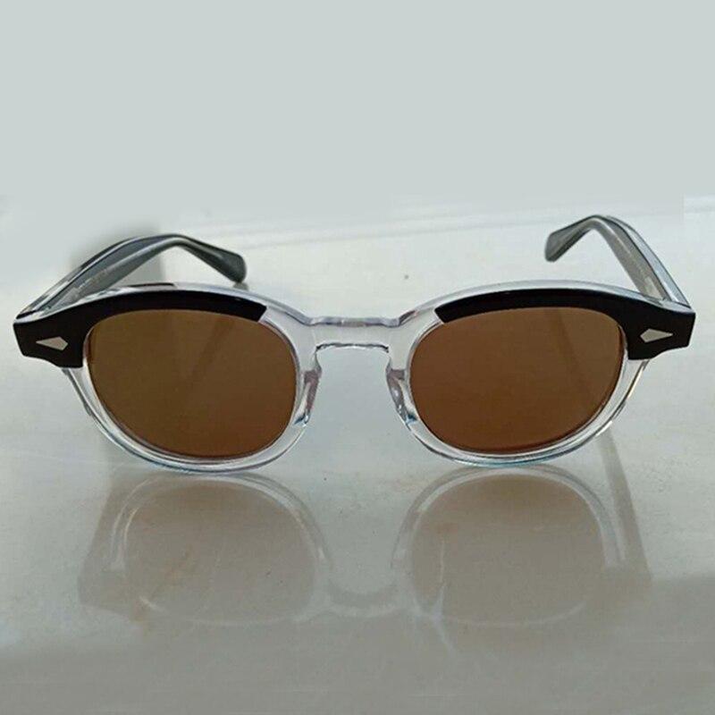 Johnny Depp lunettes de soleil hommes femme marque Designer acétate lunettes cadre polarisé lunettes de soleil pilote ombre Top qualité Q080-2