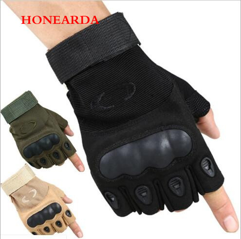 Tactical Riding Half-fingered Gloves Anti-skid Combat Mountaineering Outdoor Sunscreen Fitness Gloves