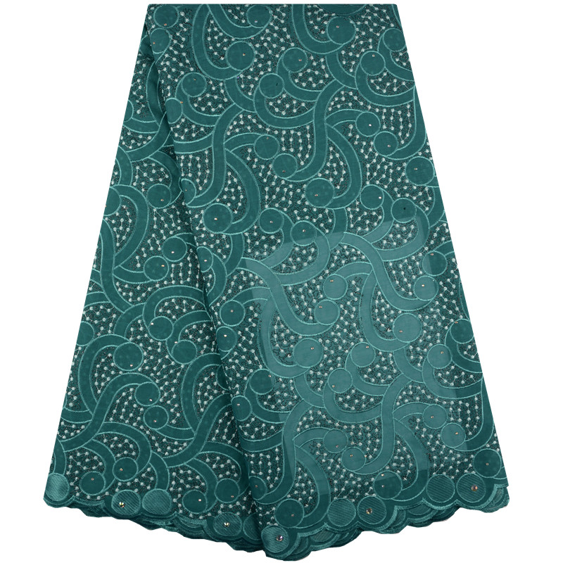 High Quality Cotton Swiss Voile Lace Fabric In Switzerland Embroidered Dry Swiss Voile Lace Material With