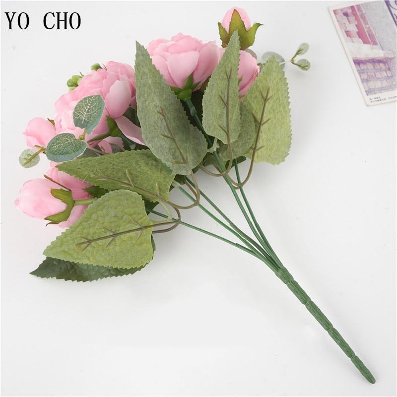 artificial flower silk peony bouquet (20)