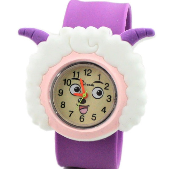 2018 new hot cake cute sheep pattern student birthday gift silicone watch cartoo