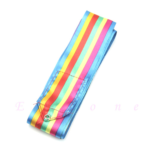 6M Dance Ribbon Gym Rhythmic Art Gymnastic Ballet Streamer Twirling Rod 9 Colors