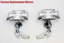 motorcycle parts Alloy Maltese Cross Custom Mirror  GSXR600 750 1000 1100 Hayabusa