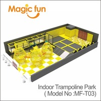 MAGICFUN Large Commercial Plan Trampoline Park for Sports Games trampoline land