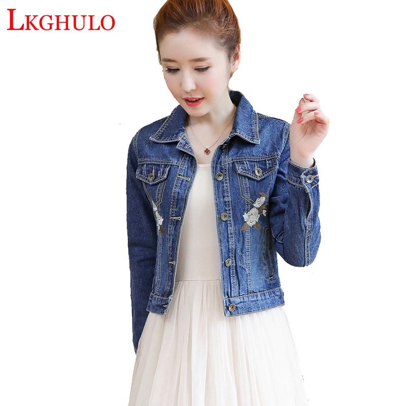 Women Basic Coats Spring Autumn Women Denim Jacket 2018 Vintage Long Sleeve Slim Female Jeans Coat Casual Girls Outwear A197