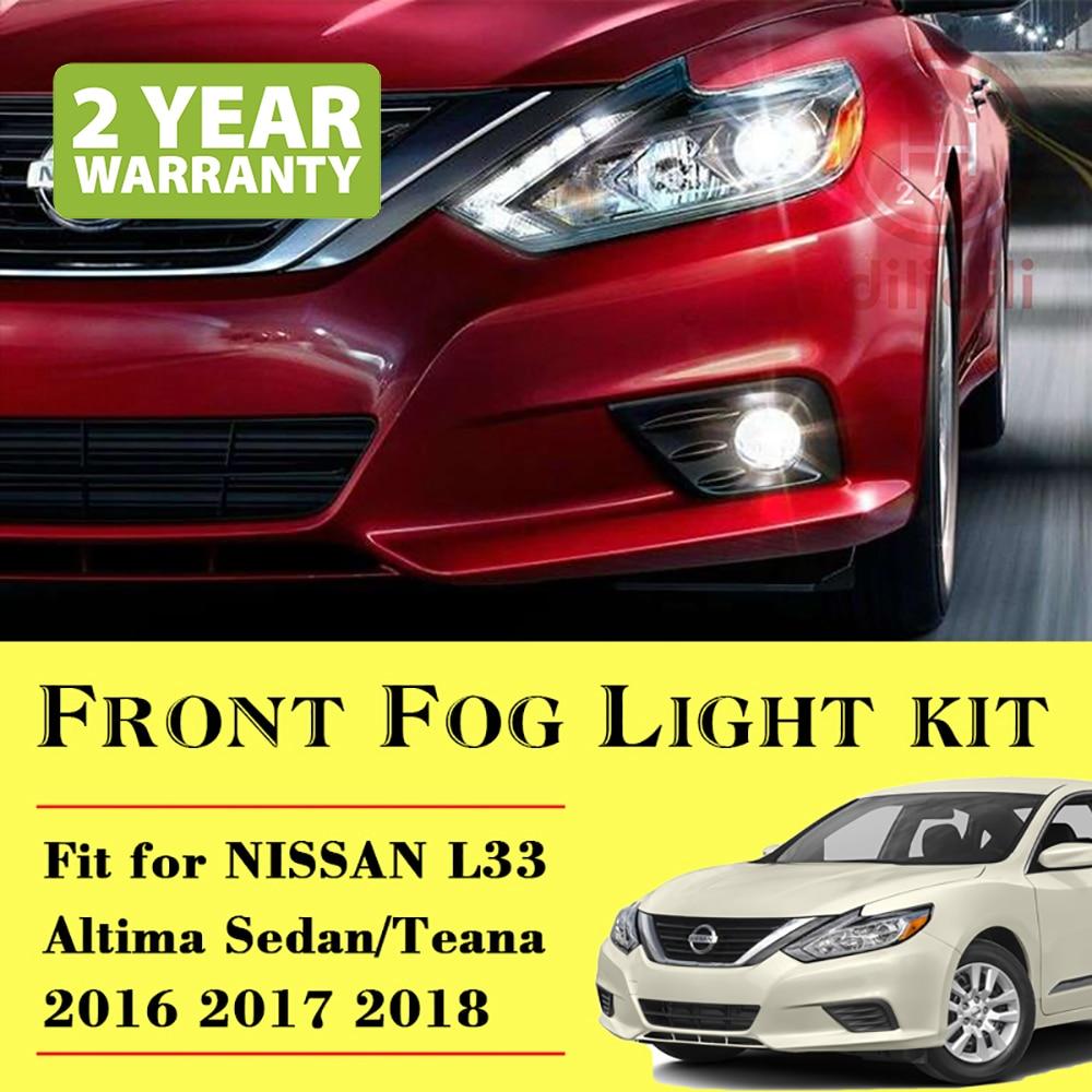 Fog Light Lamp &  Switch Kit for Nissan  Altima Sedan L33 2016- kit thule nissan almera 4 dr sedan 12 n17