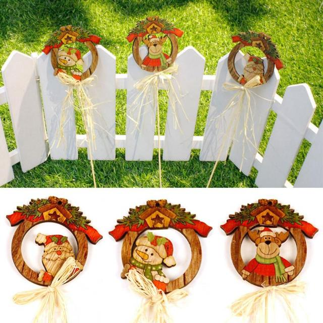 Christmas Party Wood Hanging Ornament Home Decor Pendant Wall Insert
