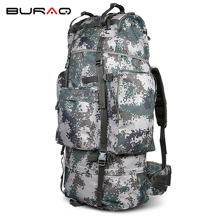 2018 Waterproof Metal Bracket Bag Men Backpack Multi-function Waterproof Durable Ripstop Nylon Bags Camouflage Backpacks T0075 2017 hot sale men 50l military army bag men backpack high quality waterproof nylon laptop backpacks camouflage bags freeshipping