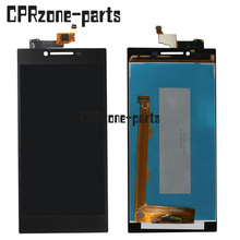 Дешевые 100% Warranty Black and White Color LCD Screen Display with Touch Screen Digitizer Assembly For Lenovo P70 by free shipping