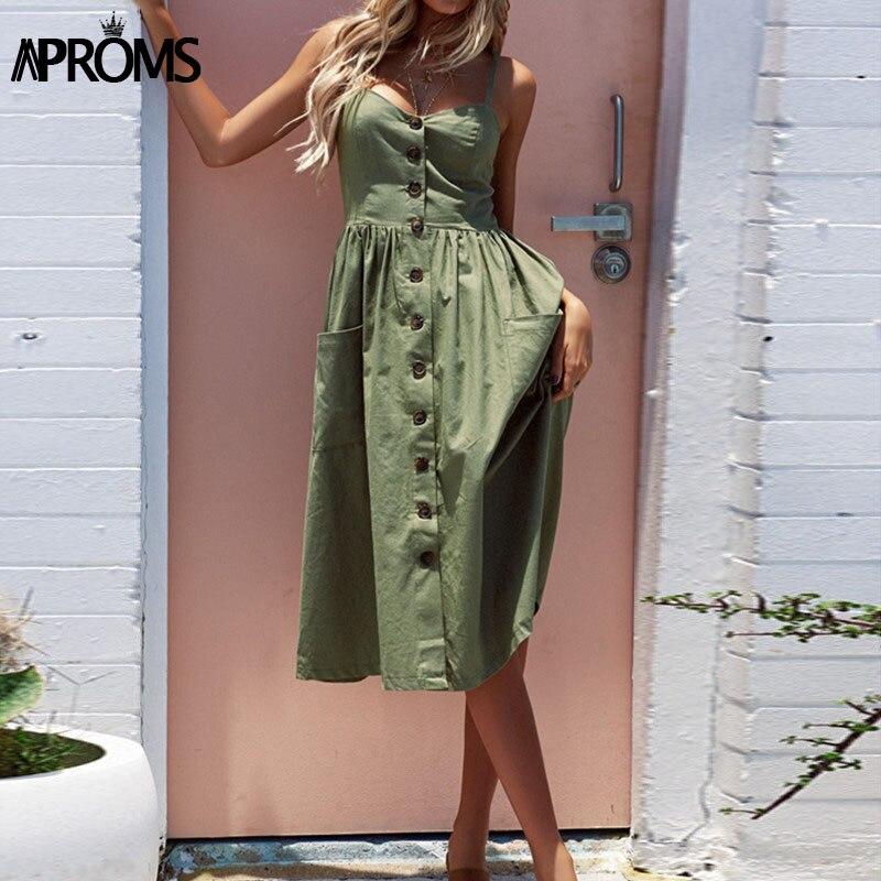 Aproms 27 patrones Midi Plus tamaño Vestido Casual V cuello Vestido de las mujeres Vestido de alta cintura Vestido de verano vestidos de verano 2018