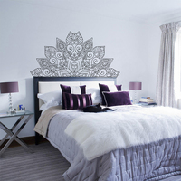 New Arrival Mandala Flower Beds headboard Vinyl Sticker Lotus Boho Poster Bohemia India Bohemia Yaga Wall Bedroom Home Decor