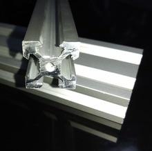 Бесплатный образец алюминиевой экструзии 2020 V-Slot алюминиевый профиль экструзионная рама для ЧПУ лазерная гравировка серебро анодированный