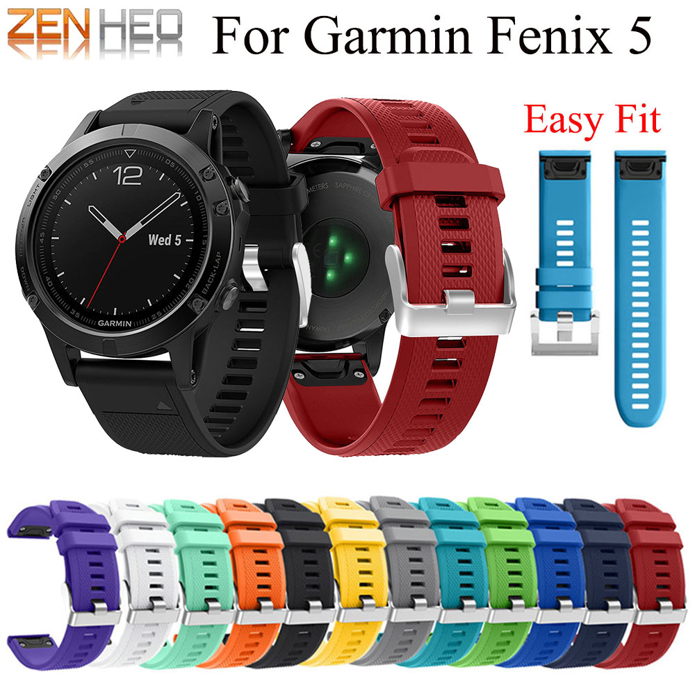 22mm Watchband Strap for Garmin Fenix 5 /5 Plus Smart Watch Quick Release Silicone Easy fit Wrist For Garmin Forerunner 935 Band22mm Watchband Strap for Garmin Fenix 5 /5 Plus Smart Watch Quick Release Silicone Easy fit Wrist For Garmin Forerunner 935 Band