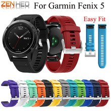 22mm Watchband Strap for Garmin Fenix 5 /5 Plus Smart Watch Quick Release Silicone Easy fit Wrist For Garmin Forerunner 935 Band
