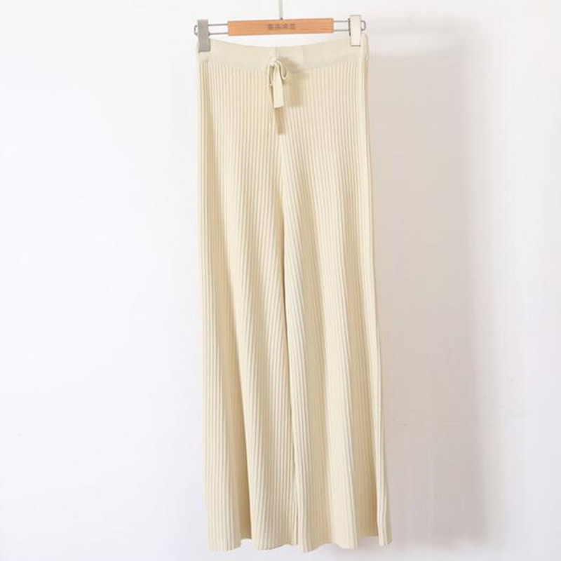 Girl ice silk thin casual   wide     leg     pants   nine points trousers