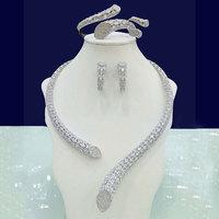 GODKI Luxury Cubic Zirconia Nigerian Jewelry sets For Women wedding Indian DUBAI Bridal Jewelry Sets Silver parure bijoux femme
