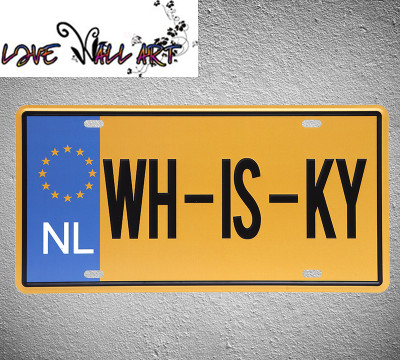 Live Wall Art] Pub Sign license plate\