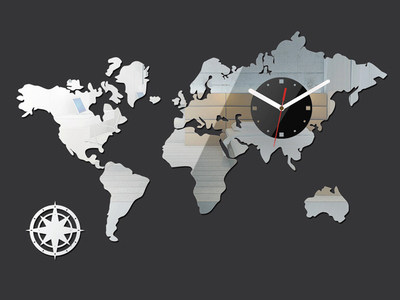 Online shop map of the world clock large wall clock modern map of the world clock large wall clock modern personality quartz clock wall stickers diy mandela world map clock wall de gumiabroncs Image collections