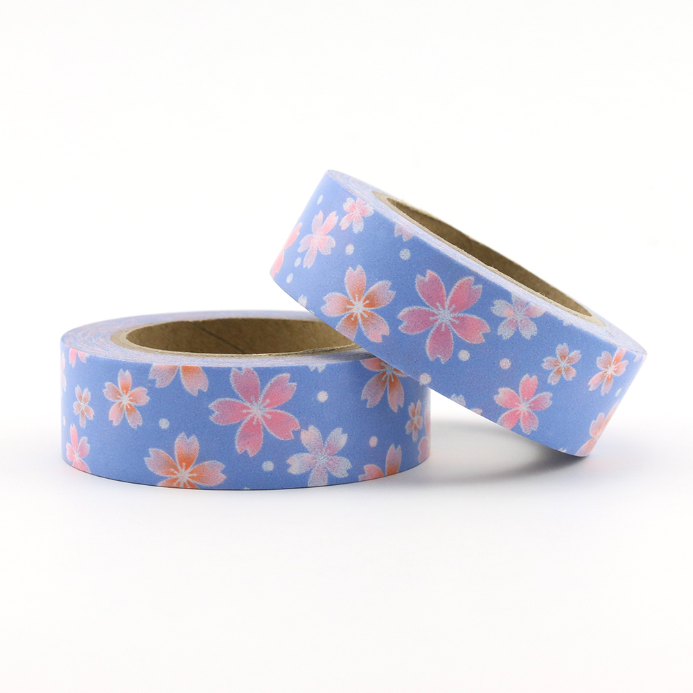 Cherry Blossoms Bullet Journal Washi Tape Planner Adhesive Tape DIY Scrapbooking Sticker Label Japanese Masking Tape