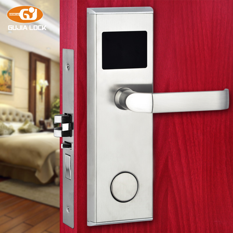 Digital electric Promotion Hot Sale! Electronic hotel card reader door lock 01B promotion hot sale electronic smart rf m1 hotel door lock controlled by software et100rf