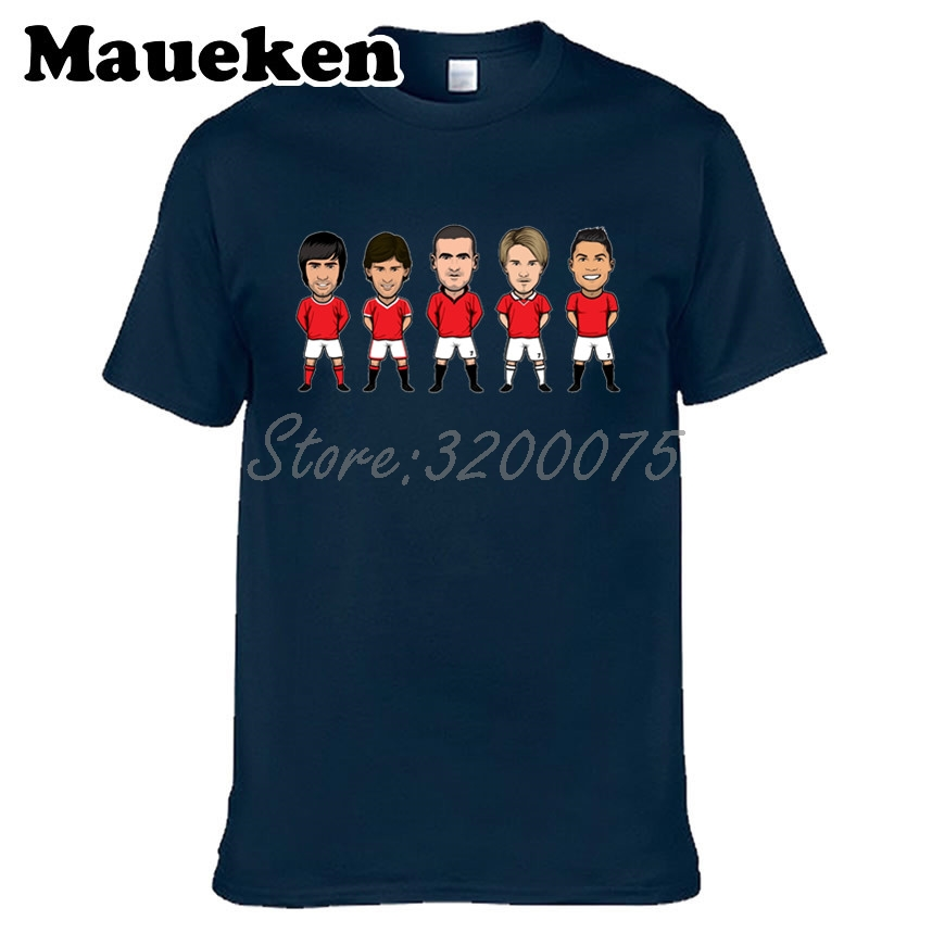 Men Legend NO.7 Eric Cantona Cristiano Ronaldo David Beckham Bryan Robson George Best T-shirt for fans gift o-neck tee W0313007 image