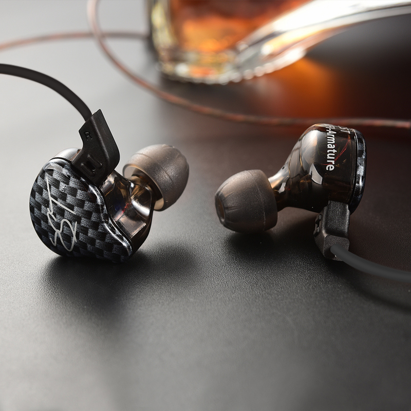 Auriculares originales KZ ZST In Ear 1DD con 1 BA Hybrid Drive HIFI auriculares deportivos para correr auriculares Monito auricular