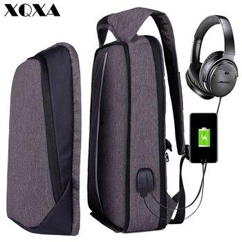 "XQXA Backpack Men Women USB Charging Anti Theft Computer Bag Rucksack Water Resistent School Backpack Bag  17.3"" Laptop Backpack"
