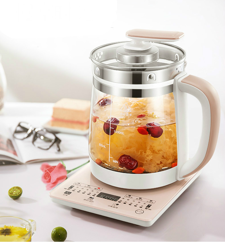 Health pot automatic thickening glass multi-functional electric kettle flower black tea health pot mini automatic thickening glass multi purpose tea kettle flower tea pot boiling pot electric kettle