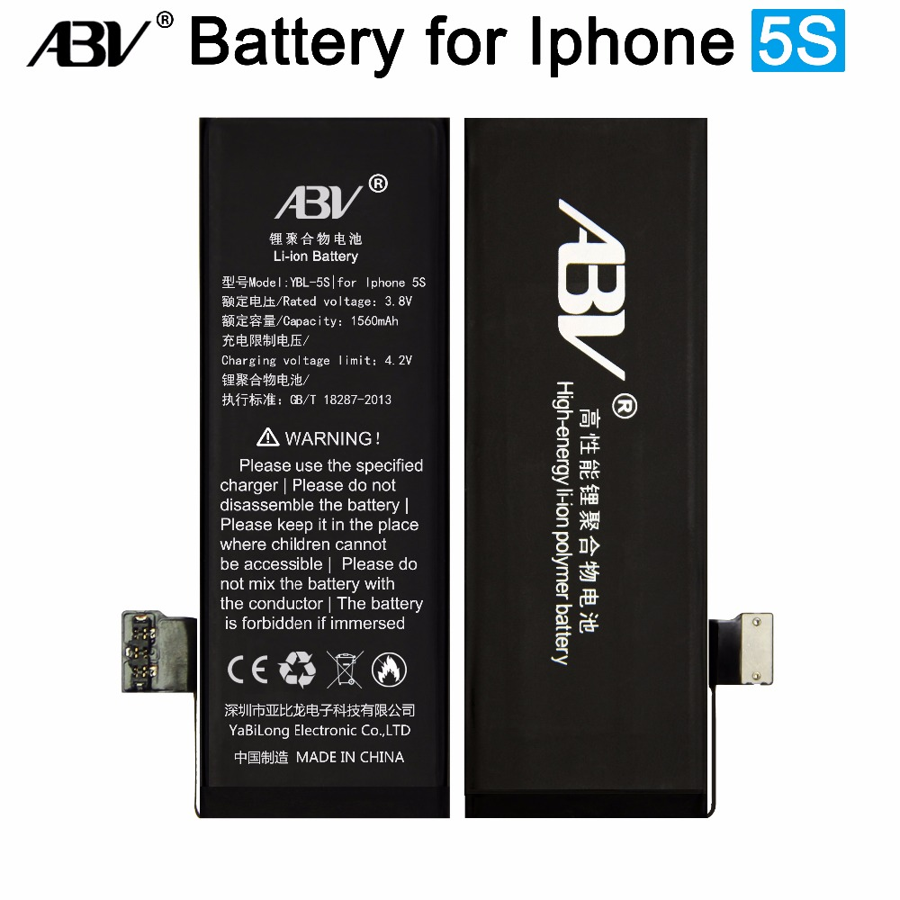 ABV Battery IPhone 5s Bateria Brand Ce For Replacement With Free-Repairing-Tools