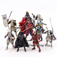 Star Wars The Force Awakens Samurai Taisho Darth Vader Death Star Armor Ashigaru Stormtrooper Boba Fett Action Figure Toys