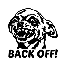 Chihuahua Back Off! Vinyl Decal Car Sticker Window Bumper Get Funny Dog My Ass Styling Decals