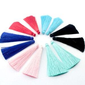 Image 1 - TEVIDA Borlas de seda para fabricación de joyas, collar, pendientes, prendas, cortinas, sombreros, 50 Uds., venta al por mayor