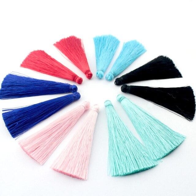 TEVIDA Borlas de seda para fabricación de joyas, collar, pendientes, prendas, cortinas, sombreros, 50 Uds., venta al por mayor