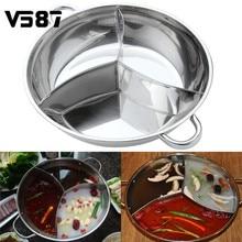 Edelstahl Hot Pot Drei Geteilt Kochgeschirr Induktions Schäfchen Hot Pot Ausgeschlossen Kompatibel Kochen Werkzeuge