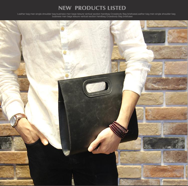 Business Casual Men Leather Designer Handbag High Quality Male Wallet Famous Brand Men's Large Capacity Clutch Bag Brown black 70