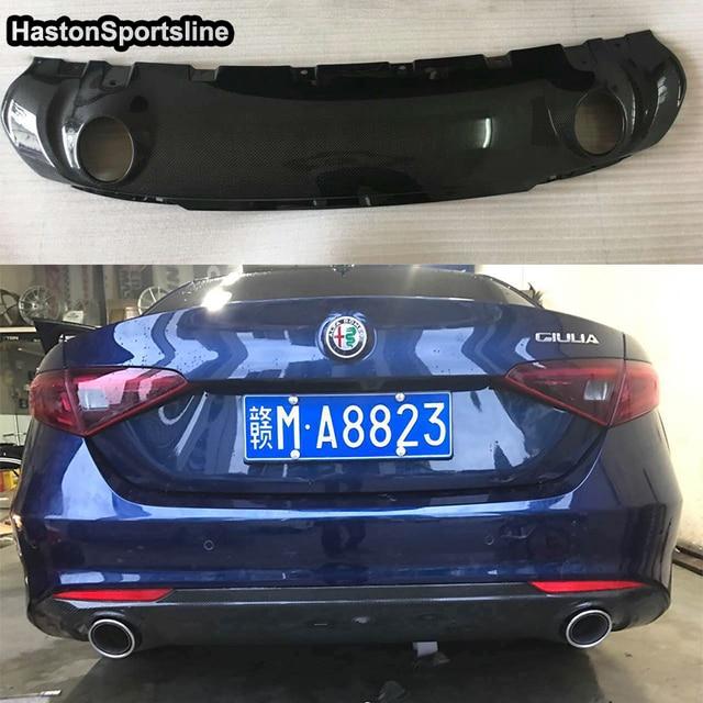 Carbon Fiber Car Styling Accessories Giulia Rear Bumper Diffuser For
