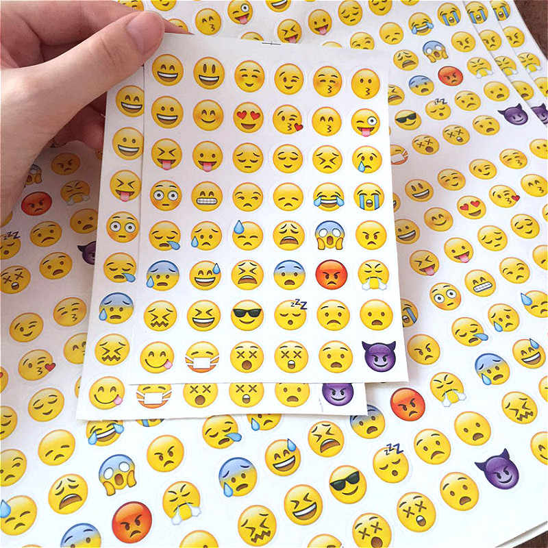 1pcs New Cute Head Portrait Sticker Smiling Face Interesting Smile face Stickers Children Kids Toy For Phone Notebook Message