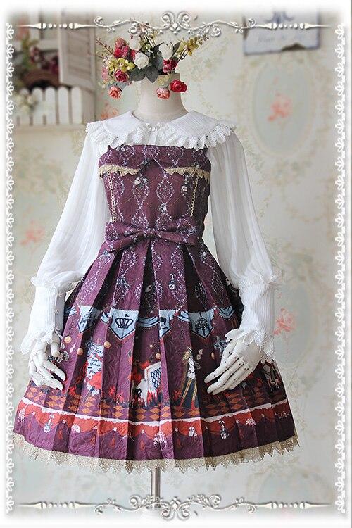 2016 Summer Autumn Cotton Dress Fire Curcirs JSK Lolita Dresses Girls Sweet Dress Black/Red/Blue S-XL