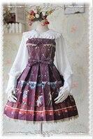 2016 Summer Autumn Cotton Dress Fire Curcirs JSK Lolita Dresses Girls Sweet Dress Black/Red/Blue S XL