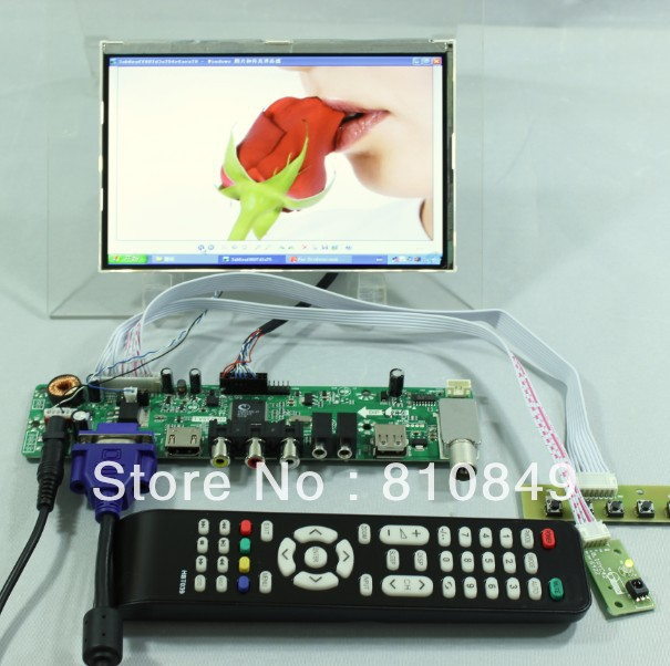 TV/HDMI/VGA/AV/USB/AUDIO LCD controller Board+7inch HSD070PWW1 IPS lcd panel hdmi vga 2av lcd controller board with 7inch n070icg ld1 39pin reversal1280x800 ips touch lcd