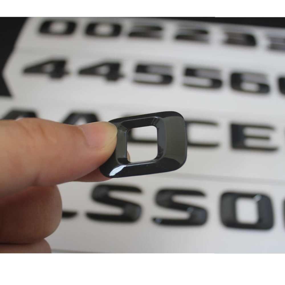 Gloss Hitam Trunk Surat Nomor Badge Emblem Emblem untuk Mercedes Benz CLS63 AMG CLS220 CLS250 CLS350 CLS400 CLS500 4MATIC