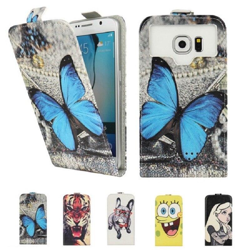 Fly IQ4505 Case, Fashion Cartoon Flip PU Leather Phone Cases for Fly IQ 4505 ERA Life 7 Phone Funda Capa Bag