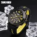 2017 skmei marca de luxo analógico relógio de quartzo dos homens homem 3atm impermeável moda casual esporte relógios dos homens relógio de pulso silicone